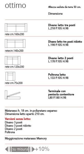 """ottimo"""" divano-letto h18 – miform – bellone arredamenti"""